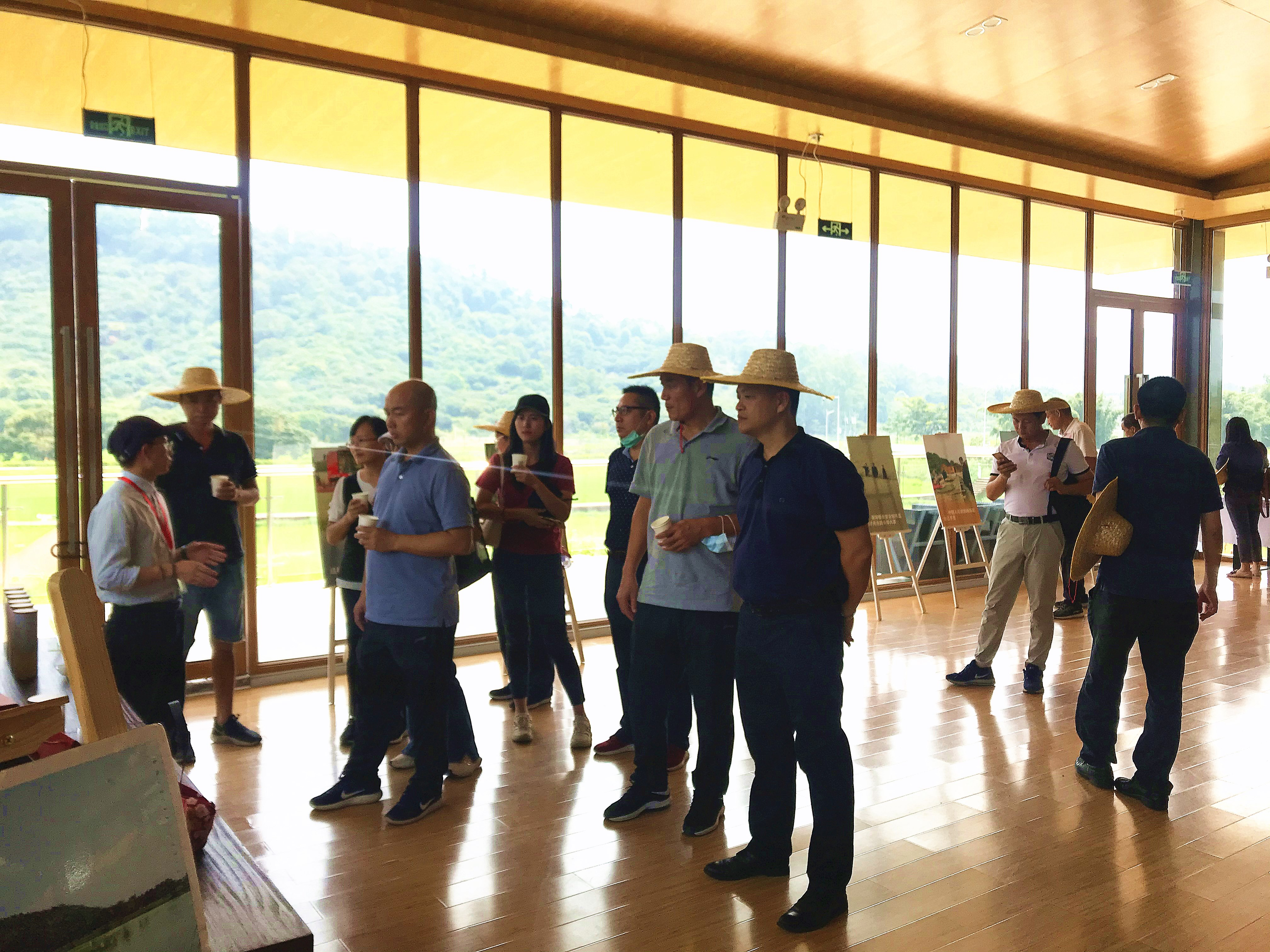 黄埔区现代农业和生态文化旅游发展中心考察团莅临从化艾米稻香小镇交流